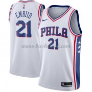 Philadelphia 76ers Basketball Trøjer 2018 Joel Embiid 21# Association Edition..