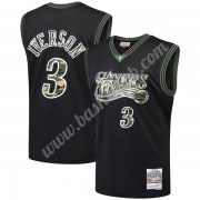 Philadelphia 76ers Basketball Trøjer NBA 2000-01 Allen Iverson 3# Sort Straight Fire Camo Swingman..