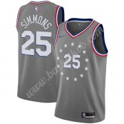 Philadelphia 76ers Basketball Trøjer NBA 2019-20 Ben Simmons 25# Grå City Edition Swingman..