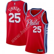 Philadelphia 76ers Basketball Trøjer NBA 2019-20 Ben Simmons 25# Rød Finished Statement Edition Swin..