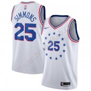 Philadelphia 76ers Basketball Trøjer NBA 2019-20 Ben Simmons 25# Hvid Earned Edition Swingman..