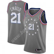Philadelphia 76ers Basketball Trøjer NBA 2019-20 Joel Embiid 21# Grå City Edition Swingman..