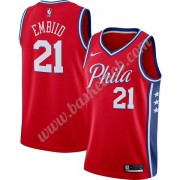 Philadelphia 76ers Basketball Trøjer NBA 2019-20 Joel Embiid 21# Rød Finished Statement Edition Swin..