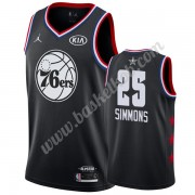 Philadelphia 76ers 2019 Ben Simmons 25# Sort All Star Game Swingman Basketball Trøjer..