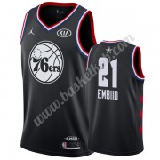 Philadelphia 76ers 2019 Joel Embiid 21# Sort All Star Game Swingman Basketball Trøjer..