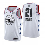 Philadelphia 76ers 2019 Joel Embiid 21# Hvid All Star Game Swingman Basketball Trøjer..