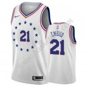 Philadelphia 76ers Basketball Trøjer NBA 2019-20 Joel Embiid 21# Grå Earned Edition Swingman..