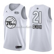 Philadelphia 76ers Joel Embiid 21# Hvid 2018 All Star Game Swingman Basketball Trøjer..