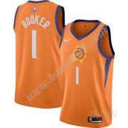 Billige Basketball Trøje Børn Phoenix Suns 2019-20 Devin Booker 1# Orange Finished Statement Edition..