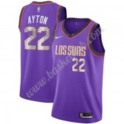 Phoenix Suns Basketball Trøjer NBA 2019-20 DeAndre Ayton 22# Lilla City Edition Swingman..