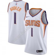 Phoenix Suns Basketball Trøjer NBA 2019-20 Devin Booker 1# Hvid Association Edition Swingman..