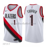 NBA Basketball Trøje Børn Portland Trail Blazers 2018 Evan Turner 1# Association Edition..