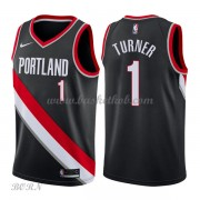 NBA Basketball Trøje Børn Portland Trail Blazers 2018 Evan Turner 1# Icon Edition..