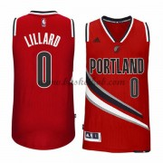 Portland Trail Blazers Basketball Trøjer 2015-16 Damian Lillard 0# Alternate..