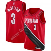 Portland Trail Blazers Basketball Trøjer NBA 2019-20 C.J. McCollum 3# Rød Finished Statement Edition..