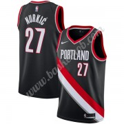 Portland Trail Blazers Basketball Trøjer NBA 2019-20 Jusuf Nurkic 27# Sort Icon Edition Swingman..