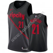 Portland Trail Blazers Basketball Trøjer NBA 2019-20 Hassan Whiteside 21# Sort City Edition Swingman..