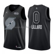 Portland Trail Blazers Damian Lillard 0# Sort 2018 All Star Game Swingman Basketball Trøjer..