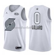 Portland Trail Blazers Damian Lillard 0# Hvid 2018 All Star Game Swingman Basketball Trøjer..