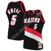 Portland Trail Blazers Basketball Trøjer NBA 1999-00 Jermaine O'Neal 5# Sort Hardwood Classics Swing..