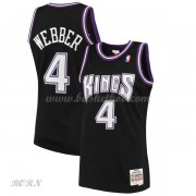 NBA Basketball Trøje Børn Sacramento Kings Kids 2000-01 Chris Webber 4# Sort Hardwood Classics..