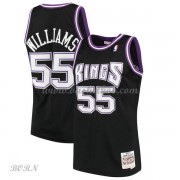 NBA Basketball Trøje Børn Sacramento Kings Kids 2000-01 Jason Williams 55# Sort Hardwood Classics..
