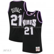 NBA Basketball Trøje Børn Sacramento Kings Kids 2000-01 Vlade Divac 21# Sort Hardwood Classics..