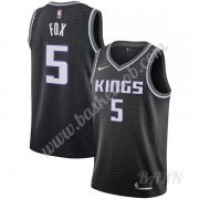 Billige Basketball Trøje Børn Sacramento Kings 2019-20 De'Aaron Fox 5# Sort Statement Edition Swingm..