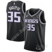 Billige Basketball Trøje Børn Sacramento Kings 2019-20 Marvin Bagley III 35# Sort Statement Edition ..
