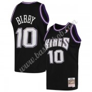 Sacramento Kings Basketball Trøjer NBA 2001-02 Mike Bibby 10# Sort Hardwood Classics Swingman..
