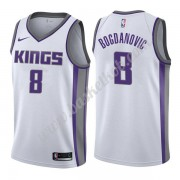 Sacramento Kings Basketball Trøjer NBA 2019-20 Bogdan Bogdanovic 8# Hvid Association Edition Swingma..