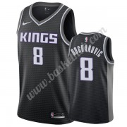 Sacramento Kings Basketball Trøjer NBA 2019-20 Bogdan Bogdanovic 8# Sort Statement Edition Swingman..