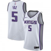 Sacramento Kings Basketball Trøjer NBA 2019-20 De'Aaron Fox 5# Hvid Association Edition Swingman..
