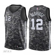 NBA Basketball Trøje Børn San Antonio Spurs 2018 LaMarcus Aldridge 12# City Edition..