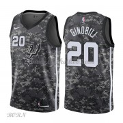 NBA Basketball Trøje Børn San Antonio Spurs 2018 Manu Ginobili 20# City Edition..
