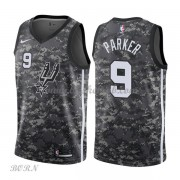 NBA Basketball Trøje Børn San Antonio Spurs 2018 Tony Parker 9# City Edition..