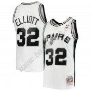 San Antonio Spurs Basketball Trøjer NBA 1998-99 Sean Elliott 32# Hvid Hardwood Classics Swingman..