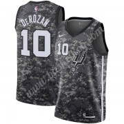 San Antonio Spurs Basketball Trøjer NBA 2019-20 DeMar DeRozan 10# Sort City Edition Swingman..