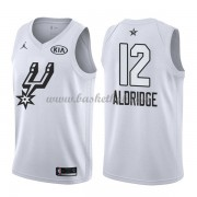 San Antonio Spurs LaMarcus Aldridge 12# Hvid 2018 All Star Game Swingman Basketball Trøjer..