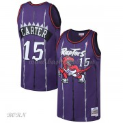 NBA Basketball Trøje Børn Toronto Raptors Kids 1998-99 Vince Carter 15# Purple Hardwood Classics..