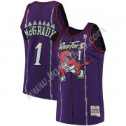 Toronto Raptors Basketball Trøjer NBA 1998-99 Tracy McGrady 1# Lilla Hardwood Classics Swingman..