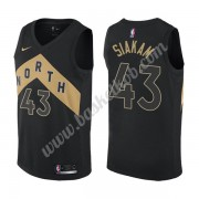 Toronto Raptors Basketball Trøjer NBA 2019-20 Pascal Siakam 43# Sort City Edition Swingman..