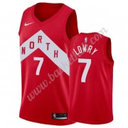 Toronto Raptors Basketball Trøjer NBA 2019-20 Kyle Lowry 7# Rød Earned Edition Swingman..
