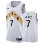 Toronto Raptors Basketball Trøjer NBA 2019-20 Kyle Lowry 7# Hvid City Edition Swingman..