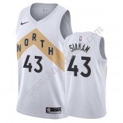 Toronto Raptors Basketball Trøjer NBA 2019-20 Pascal Siakam 43# Hvid City Edition Swingman..