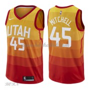 NBA Basketball Trøje Børn Utah Jazz 2018 Donovan Mitchell 45# City Edition..