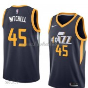 NBA Basketball Trøje Børn Utah Jazz 2018 Donovan Mitchell 45# Icon Edition..