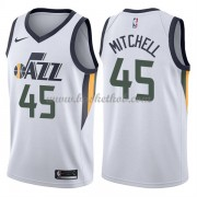 Utah Jazz Basketball Trøjer 2018 Donovan Mitchell 45# Association Edition..