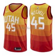 Utah Jazz Basketball Trøjer 2018 Donovan Mitchell 45# City Edition..