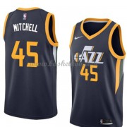 Utah Jazz Basketball Trøjer 2018 Donovan Mitchell 45# Icon Edition..